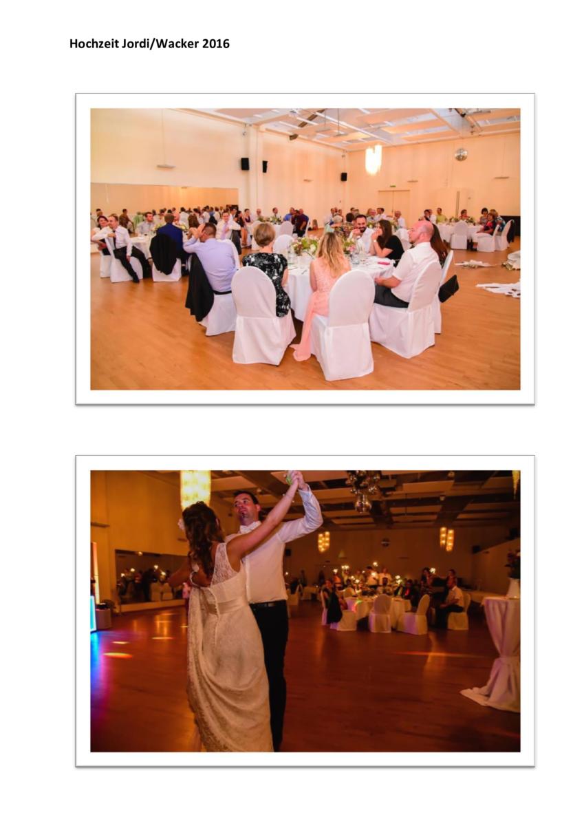 Hochzeitsfeier Angela und Marcel Jordi